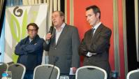 Jesús Sutil (derecha) en la entrega de premios del I Concurso Joven Cocina AOVE.